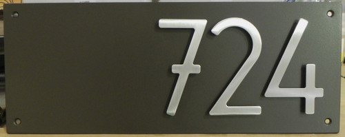 """Address Plaque with 5"""" Bungalow Style House Numbers (3 digits)"""