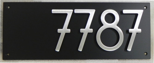 """Address Plaque with 5"""" Bungalow Style House Numbers (4 digits)"""