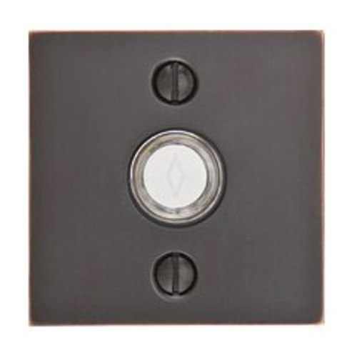 Modern Square Rosette Doorbell Button