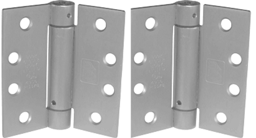 "4.5"" x 4.5"" Stainless Steel Self-Closing Spring Hinge (Pair)"