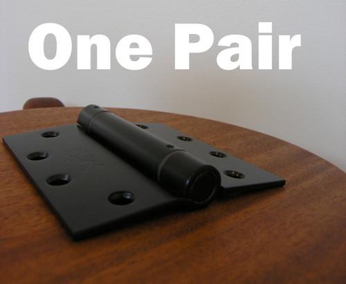 """4.5"""" Stainless Steel Self-Closing Spring Hinge (Pair) - BLACK"""