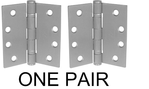 "4-1/2"" x 4-1/2"" Stainless Steel Heavy Duty Ball Bearing Hinge (Pair)"