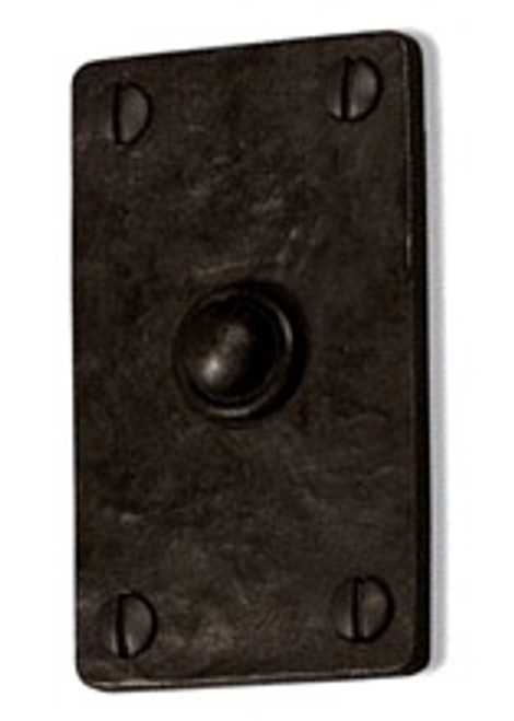 Dark Bronze Square Doorbell Button