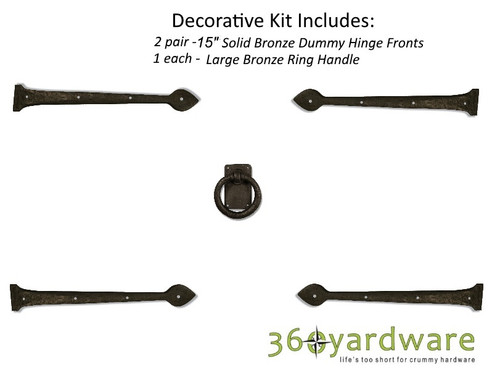 Bronze Traditional Style Decorative Garage Door Kit