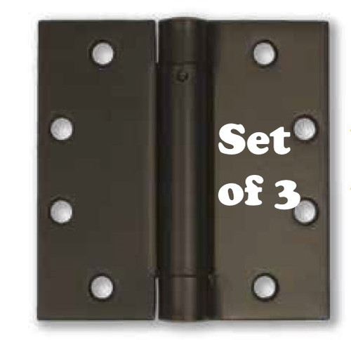 "4"" Stainless Steel Self-Closing Spring Hinge (set of 3) - PVD Dark Bronze Finish"