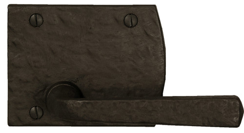 Dark Bronze Dummy Contemporary Plate with Square Handle
