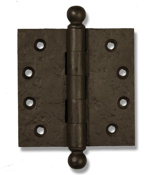 "Dark Bronze 4"" Ball Tip Heavy Duty Hinges (Sold as Each)"