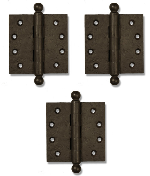 Dark Bronze Ball Tip Heavy Duty Hinges (Set of 3)