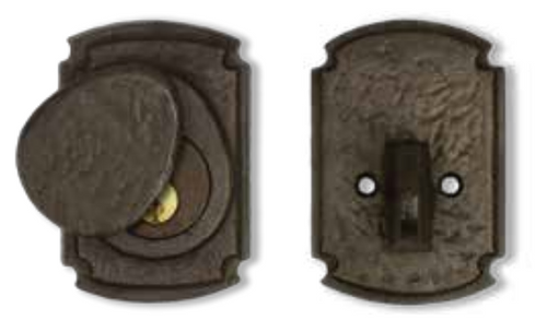 Dark Bronze Ornate Euro Deadbolt