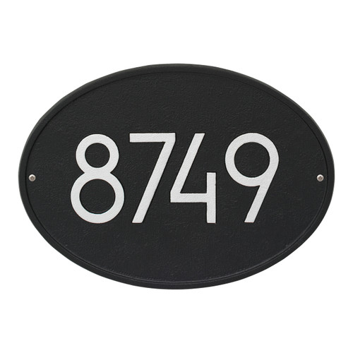 Hawthorne Modern Personalized Wall Plaque - Black/Silver