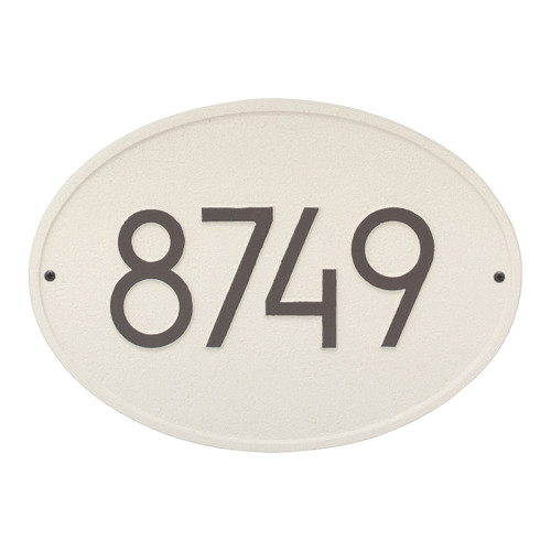 Hawthorne Modern Personalized Wall Plaque - Coastal Clay