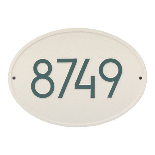 Hawthorne Modern Personalized Wall Plaque - Coastal Green