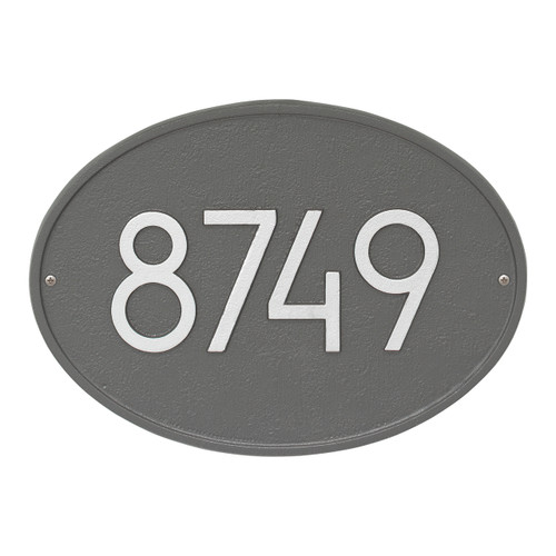 Hawthorne Modern Personalized Wall Plaque - Pewter/Silver