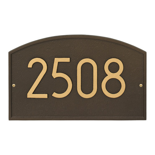Legacy Modern Personalized Wall Plaque - Aged Bronze