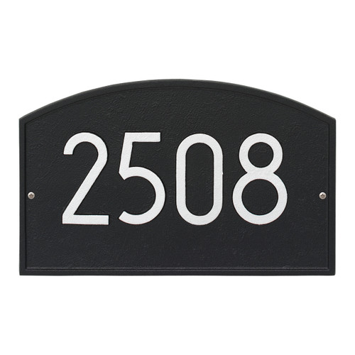 Legacy Modern Personalized Wall Plaque - Black/Silver