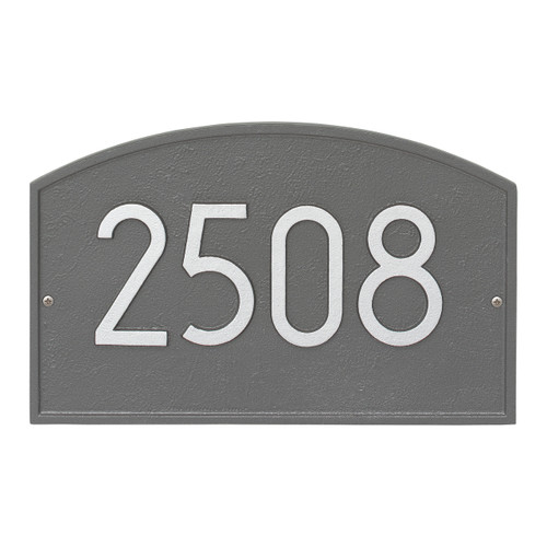 Legacy Modern Personalized Wall Plaque - Pewter/Silver