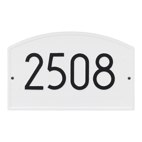 Legacy Modern Personalized Wall Plaque - White/Black