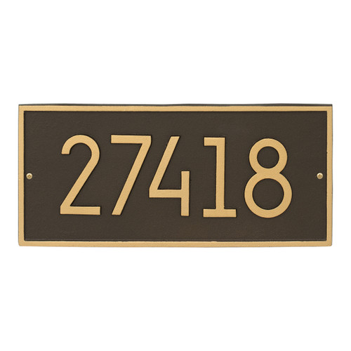Hartford Modern Personalized Vertical Wall Plaque - Aged Bronze