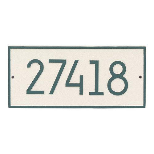 Hartford Modern Personalized Vertical Wall Plaque - Coastal Green