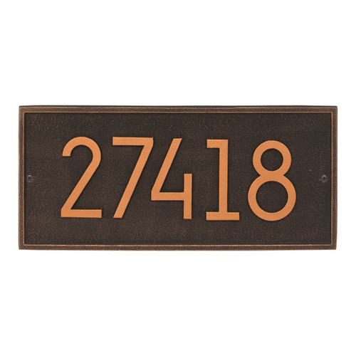 Hartford Modern Personalized Vertical Wall Plaque - Oil Rubbed Bronze