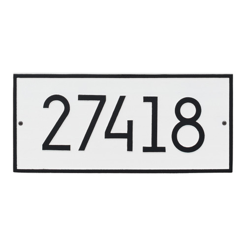 Hartford Modern Personalized Vertical Wall Plaque - White/Black