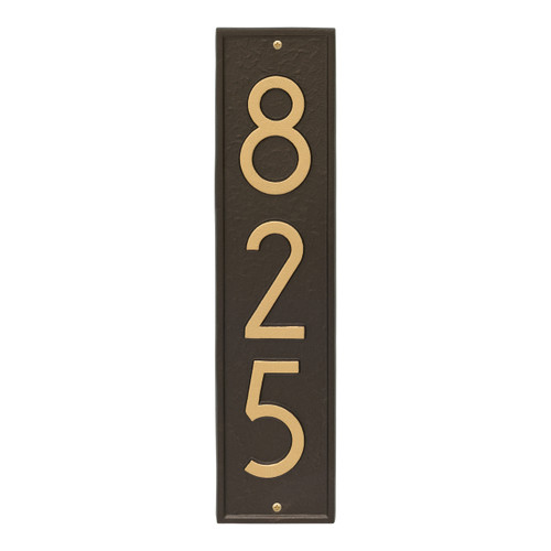 Delaware Modern Personalized Vertical Wall Plaque - Aged Bronze