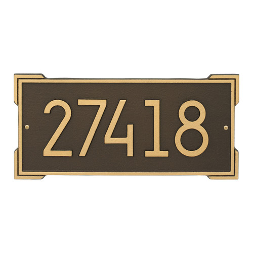 Roanoke Modern Personalized Wall Plaque - Aged Bronze