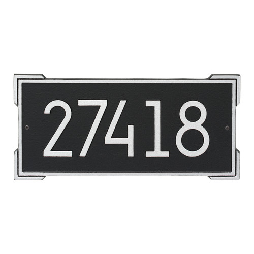 Roanoke Modern Personalized Wall Plaque - Black/Silver