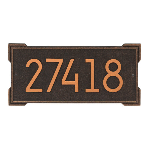 Roanoke Modern Personalized Wall Plaque - Oil Rubbed Bronze