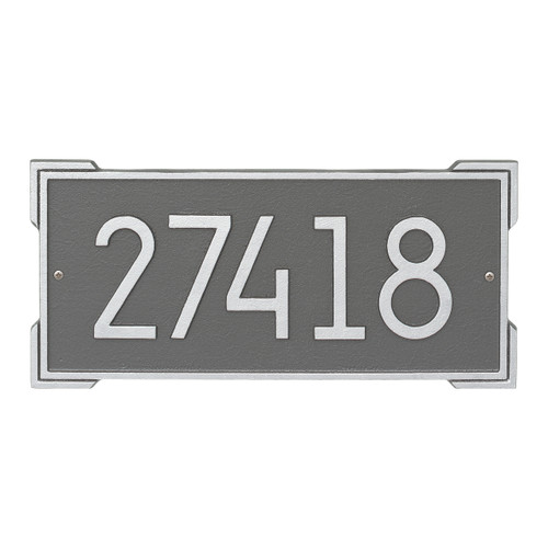 Roanoke Modern Personalized Wall Plaque - Pewter/Silver