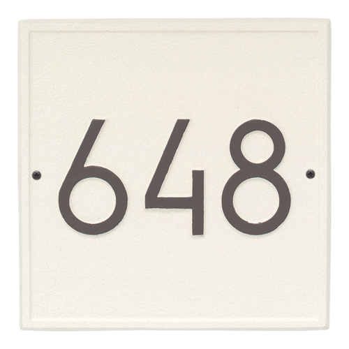 Square Modern Personalized Wall Plaque - Coastal Clay