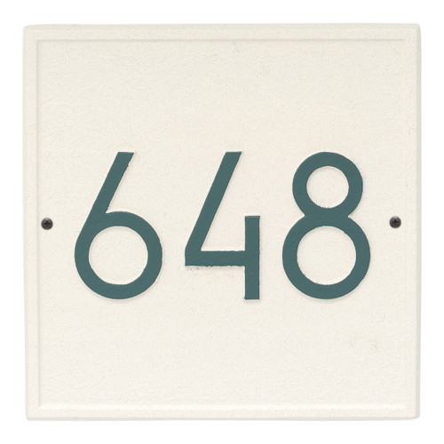 Square Modern Personalized Wall Plaque - Coastal Green