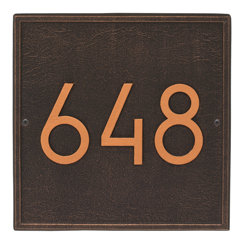 Square Modern Personalized Wall Plaque - Oil Rubbed Bronze
