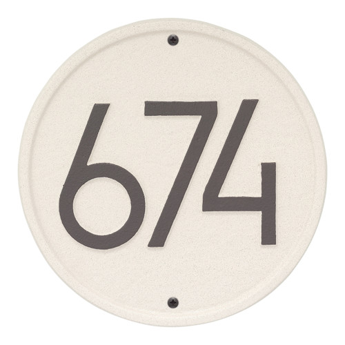 Round Modern Personalized Wall Plaque - Coastal Clay