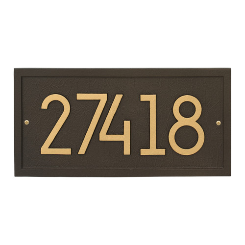 Rectangle Modern Personalized Wall Plaque - Aged Bronze