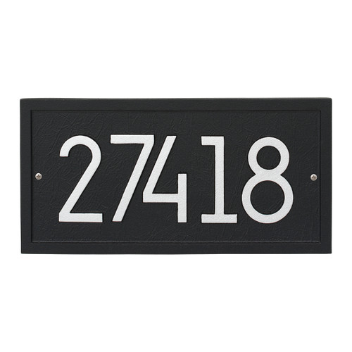 Rectangle Modern Personalized Wall Plaque - Black/Silver