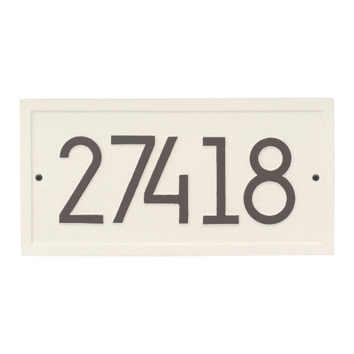 Rectangle Modern Personalized Wall Plaque - Coastal Clay