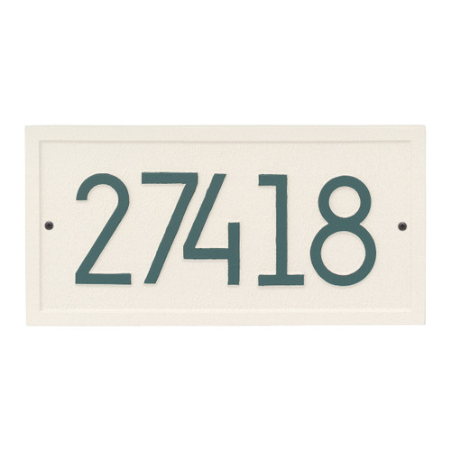 Rectangle Modern Personalized Wall Plaque - Coastal Green