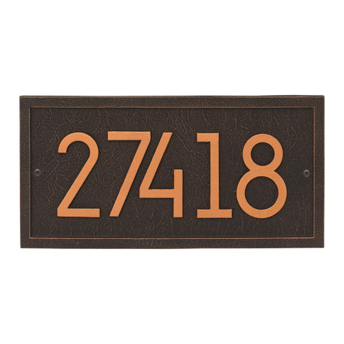 Rectangle Modern Personalized Wall Plaque - Oil Rubbed Bronze