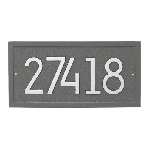 Rectangle Modern Personalized Wall Plaque - Pewter/Silver