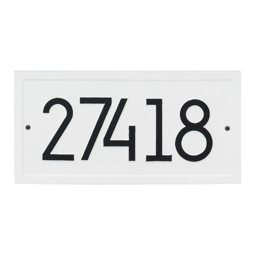 Rectangle Modern Personalized Wall Plaque - White/Black