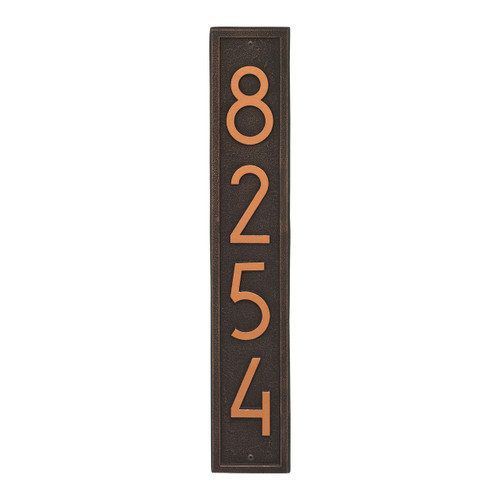 Vertical Modern Personalized Wall Plaque  - Oil Rubbed Bronze