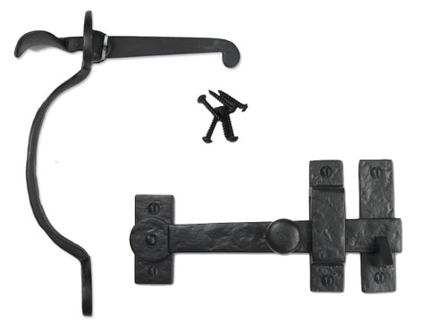 Cast Iron Heart Style Thumb Latch with Straight Drop Bar
