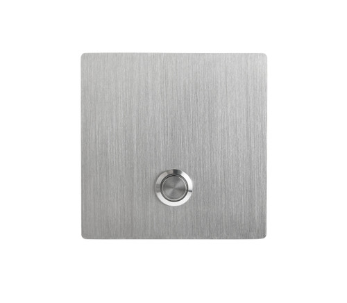 S1 Square Modern Stainless Steel Doorbell Button replacement - front view