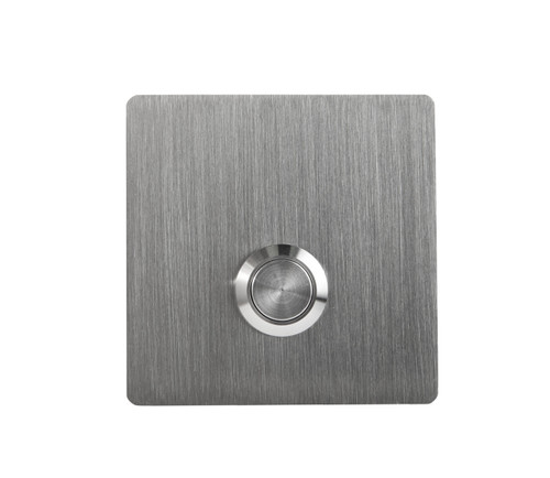 S2 Square Modern Stainless Steel Doorbell Button-Small replacement - front view