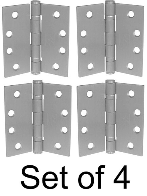 "(Set of 4) 4-1/2"" Stainless Steel Heavy Duty Ball Bearing Hinge"