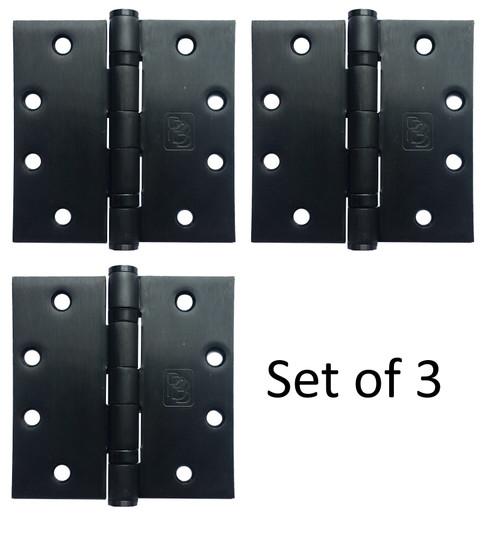 """4-1/2"""" x 4-1/2"""" Stainless Steel Heavy Duty Ball Bearing Hinge (Dark Bronze Finish) - Set of 3"""