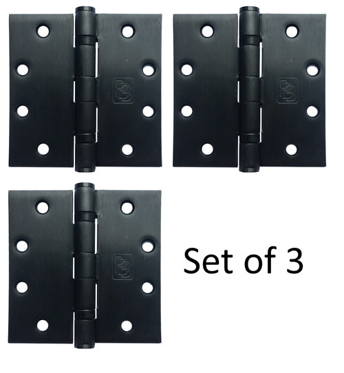 "4-1/2"" x 4-1/2"" Stainless Steel Heavy Duty Ball Bearing Hinge (Dark Bronze Finish) - Set of 3"