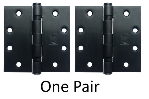 "4-1/2"" x 4-1/2"" Stainless Steel Heavy Duty Ball Bearing Hinge (Dark Bronze Finish) - Pair"