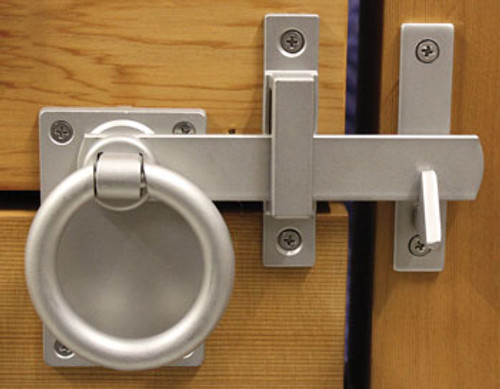 Contemporary Ring Gate Latch Set - Marine Grade Stainless (Build Your Own Package)